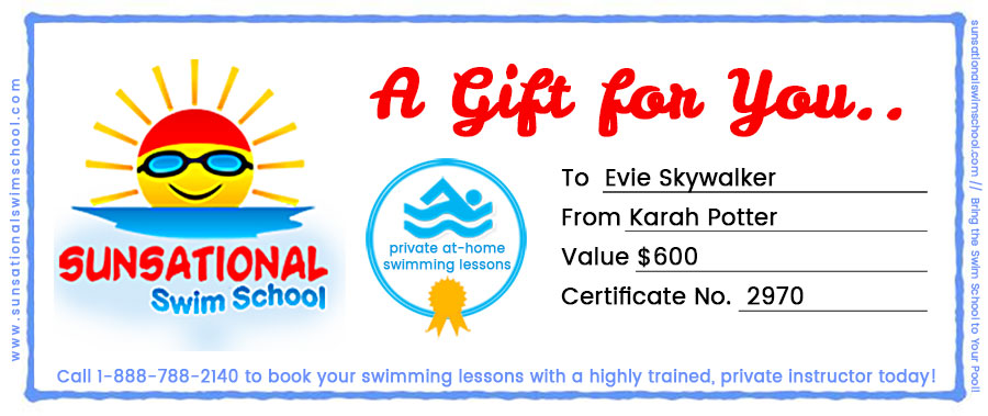Swimming Lessons Gift Certificate